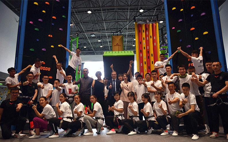 Opening Chengdu's In Sports facility clip 'n climb speed climb china