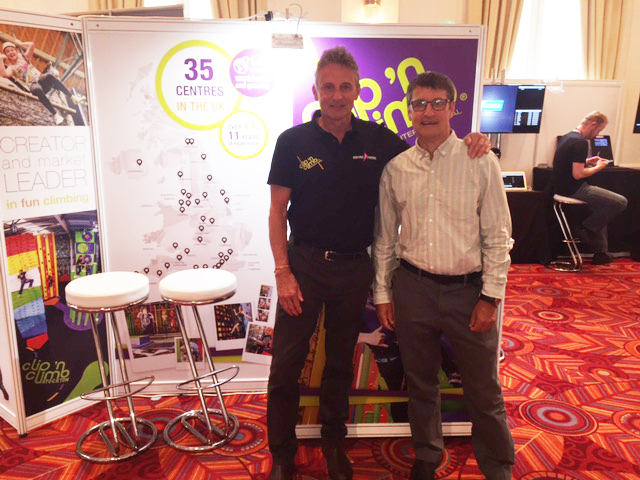 Mick Cook and Colin Boothroyd from Clip 'n Climb at IATP 2017