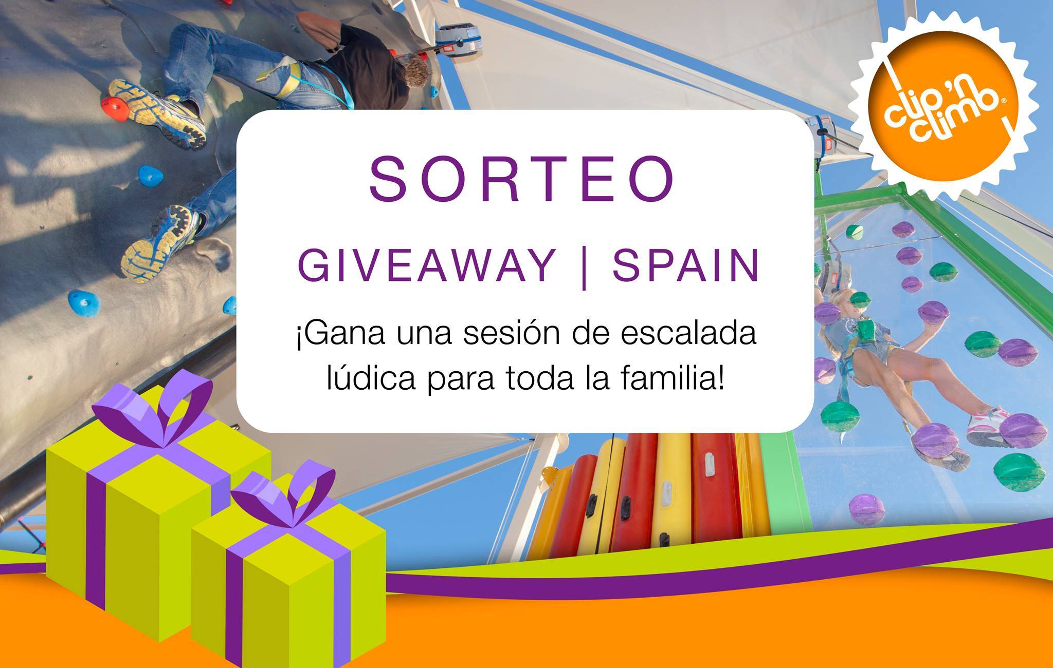 Spanish Clip 'n Climb centres join together to create a global giveaway on Facebook